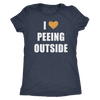 I Love Peeing Outside Hiking Camping Women's T-Shirt - TSUNRISEBEY