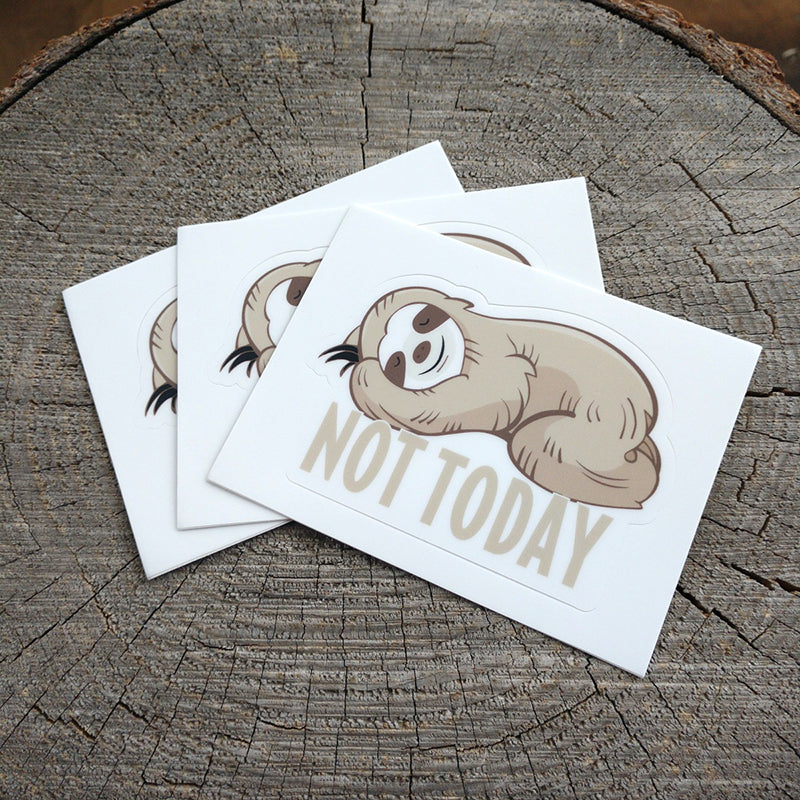 Funny Sloth Not Today Vinyl Sticker - TSUNRISEBEY