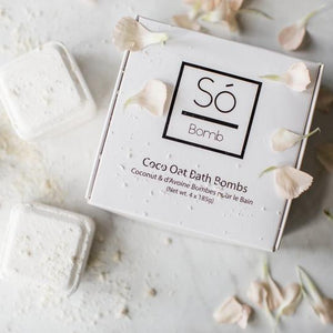 So Luxury Coco Oat Bath Bombs - Box of 4