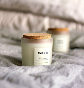 Frosted Glass Candles ($26) Canvas Candle Co