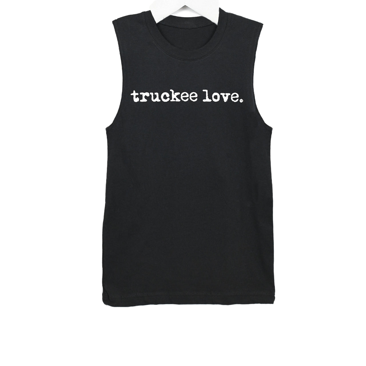 T Shirt-Muscle T-Typewriter Font-Adult