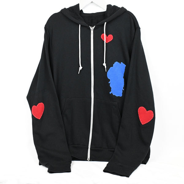 Sweatshirt-Zip Hoodie-Lake Love-truckee love.