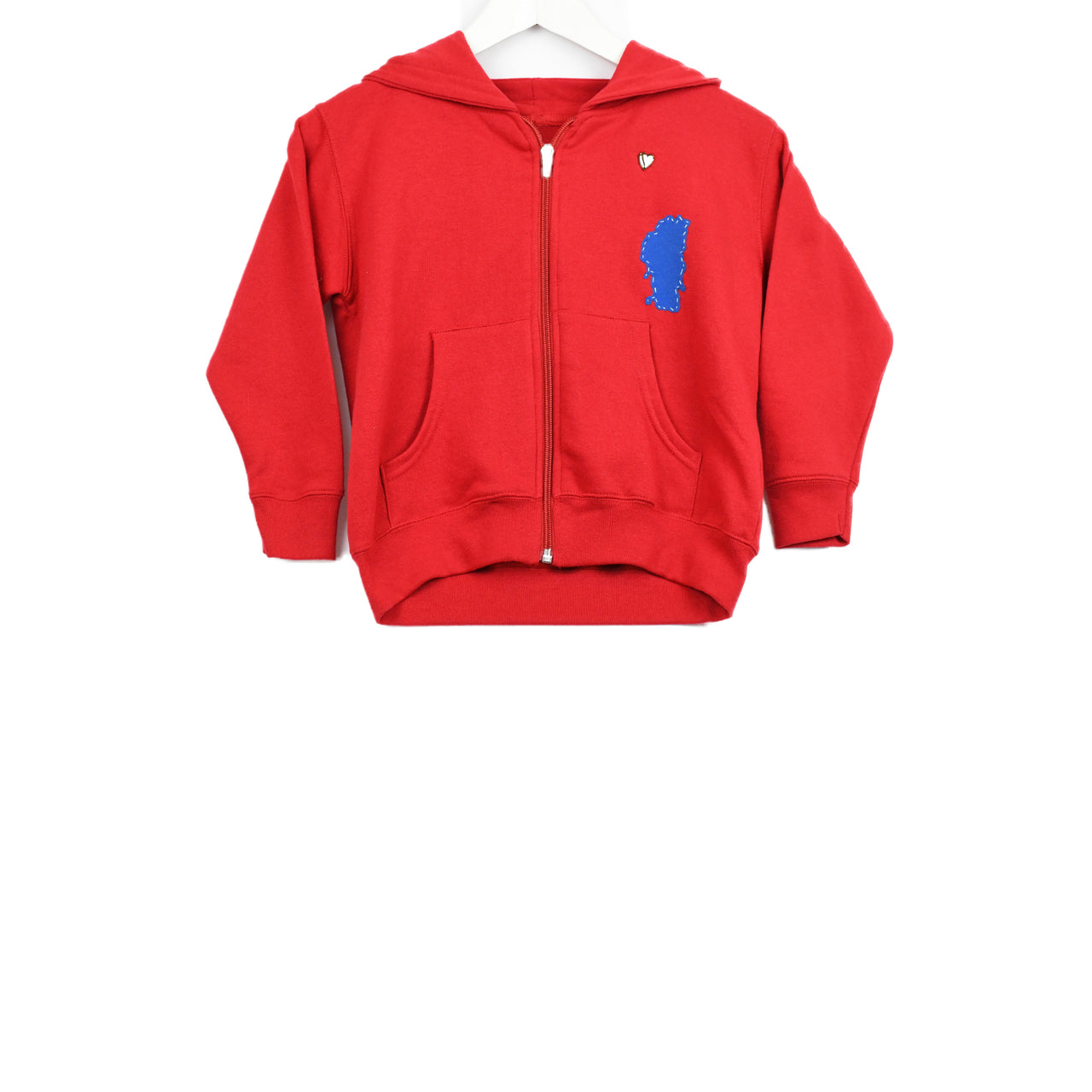 Sweatshirt-Zip Hoodie-lake love.-Baby
