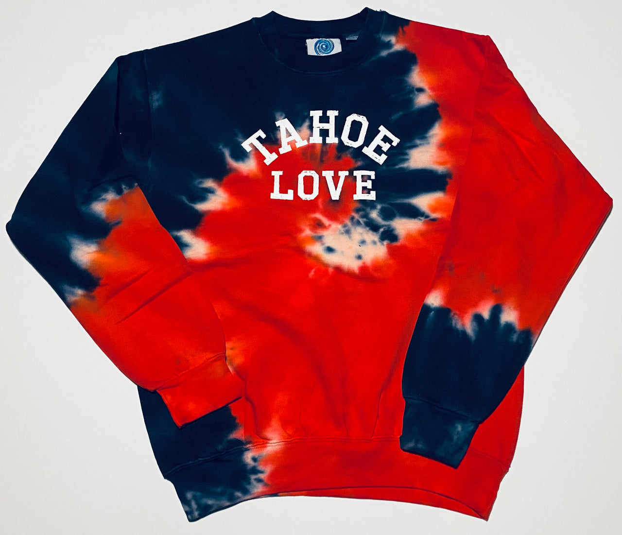 sweatshirt-tie dye-crewneck-Higher Learning-adult