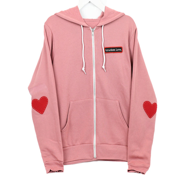 Sweatshirt-Zip Hoodie-love patch-Adult