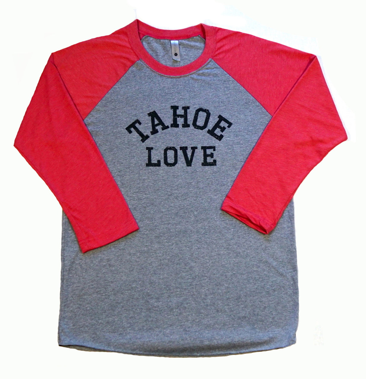 T Shirt-Baseball-Higher Learning-tahoe love.-Adult
