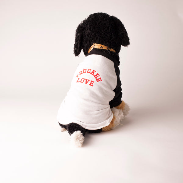 truckee love. Dog Baseball Raglan