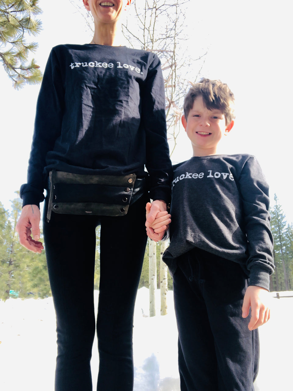 T Shirt-Long Sleeve-Typewriter Font-truckee love.-kids
