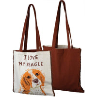 I Love My Beagle Tote Bag