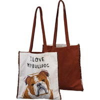 I Love My Bulldog Tote Bag