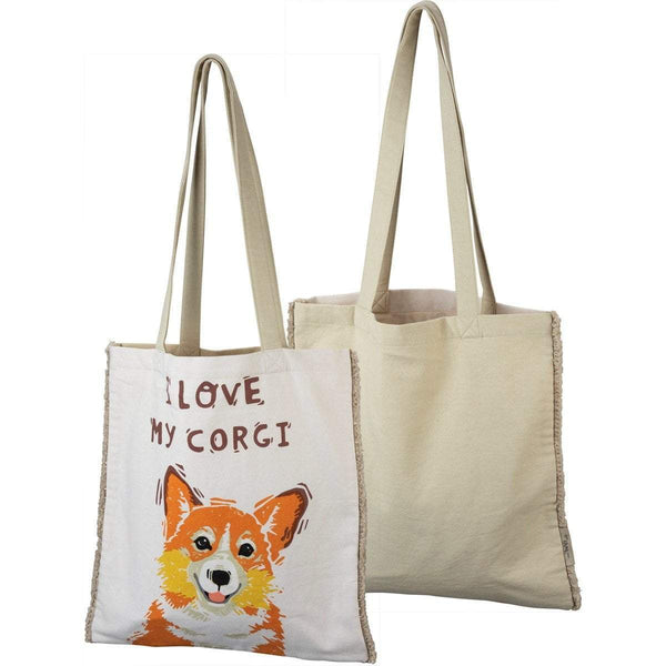 I Love My Corgi Tote Bag