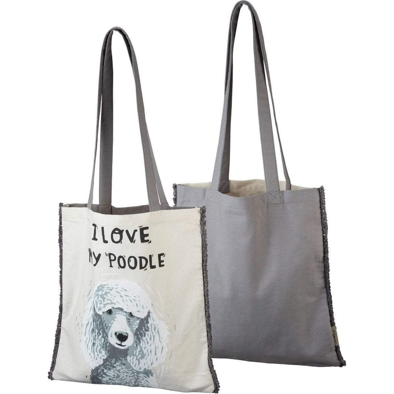 I Love My Poodle Tote Bag
