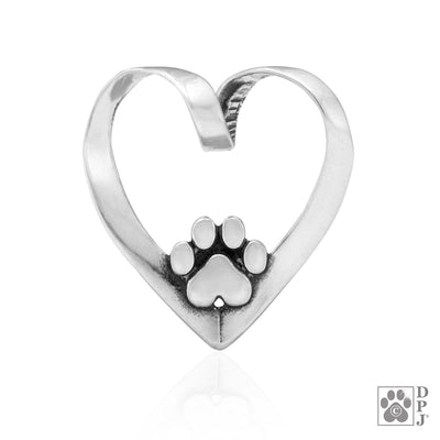 Heart Dog Slide Pendant