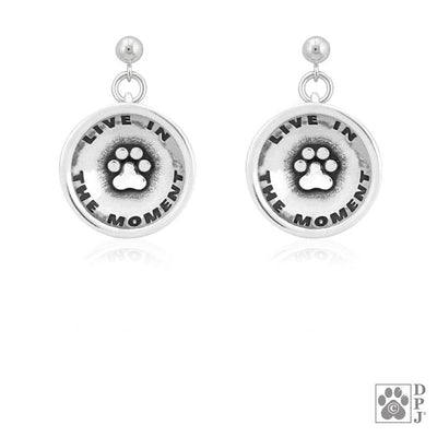 Live In The Moment Paw Earrings