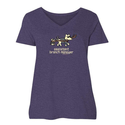 Assistant Branch Manager - Ladies Curvy V-Neck Tee