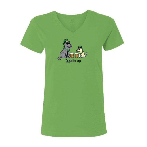 Dublin Up With The Irish - Ladies T-Shirt V-Neck