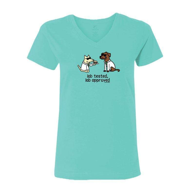 Lab Tested, Lab Approved - Ladies T-Shirt V-Neck