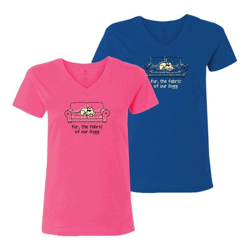 Fur, The Fabric Of Our Lives - Ladies T-Shirt V-Neck