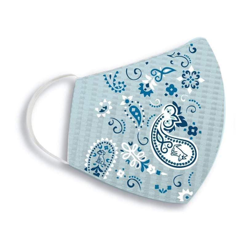 Teddy the Dog Face Mask- Chill Blue Paisley