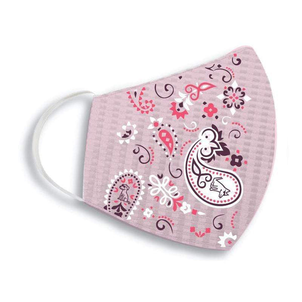 Teddy the Dog Face Mask- Pink Paisley