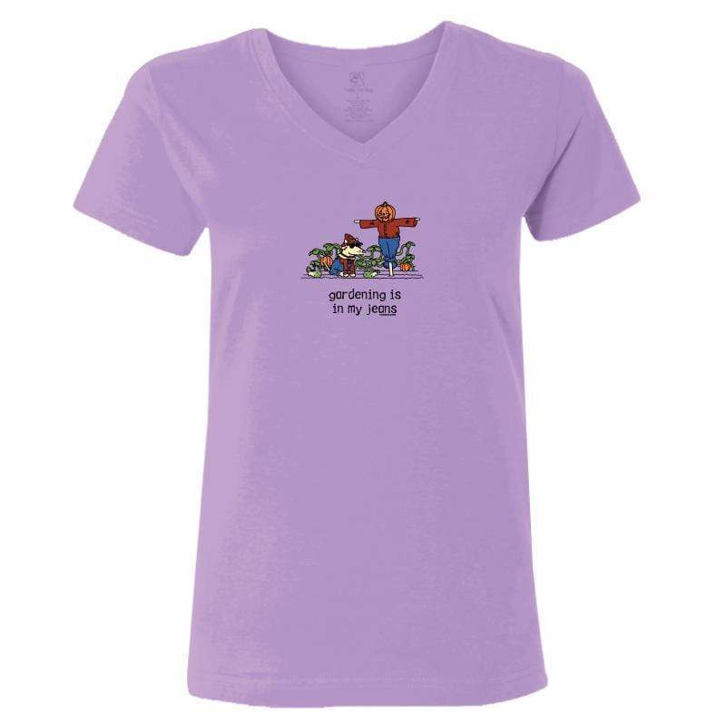 Gardening Is In My Jeans -T-Shirt Ladies V-Neck