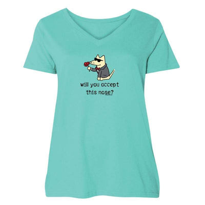 Will You Accept This Nose? - Curvy V-Neck Tee