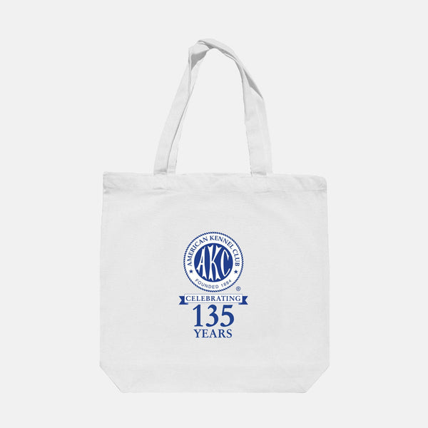 AKC 135th Anniversary Logo Tote Bag