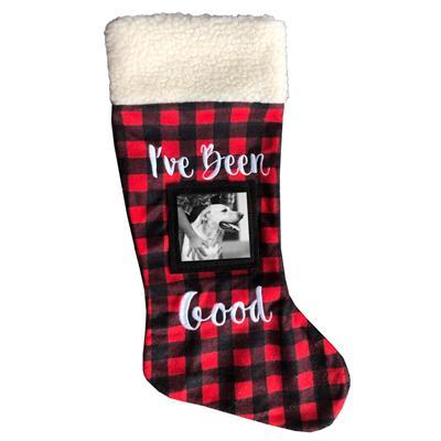 Frame Christmas Dog Stocking