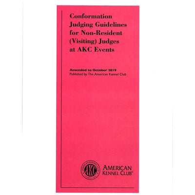 Conformation Judging Guidelines for Non-Resident Judges