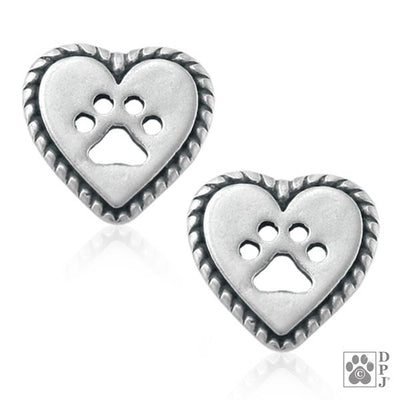 Roped Into Your Heart Post Earrings