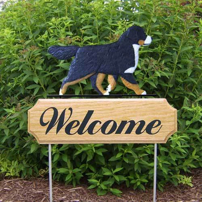 Bernese Mountain Dog Welcome Sign