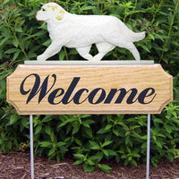 Clumber Spaniel Welcome Sign