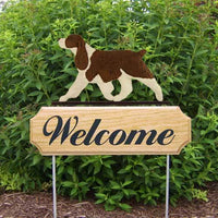 English Springer Spaniel Welcome Sign