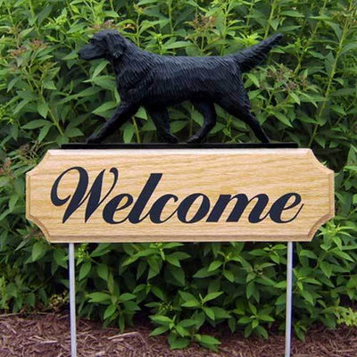 Flat-Coated Retriever Welcome Sign