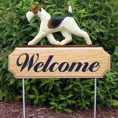 Wire Fox Terrier Welcome Sign