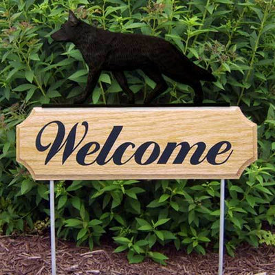 German Shepherd Dog Welcome Sign