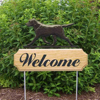 Labrador Retriever Welcome Sign