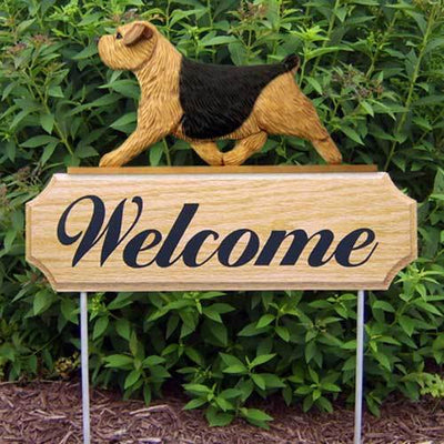 Norfolk Terrier Welcome Sign