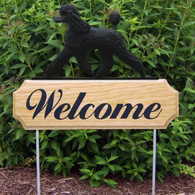 Poodle Welcome Sign