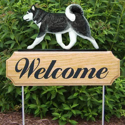 Siberian Husky Welcome Sign