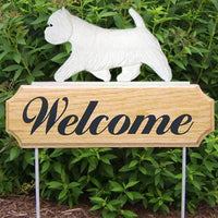 West Highland White Terrier Welcome Sign