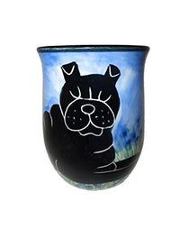 Chinese Shar-Pei, Black, Hand-Painted Ceramic Mug