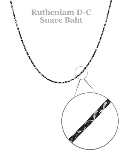 Sterling Silver Ruthenium Chain
