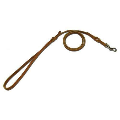 Flat Leather Snap Lead - .25-inch x 3-feet Brown