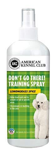 Don't Go There! Training Spray - Discourages Revisiting or Remarking - Teach Pets Not to Urinate in Specific Areas - American Kennel Club (16 Ounce, Lemongrass Spice)