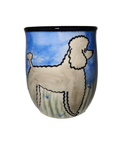 Poodle, Grey, Hand-Painted Ceramic Mug