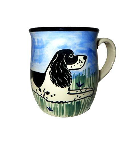 Springer Spaniel, Black and White, Hand-Painted Ceramic Mug