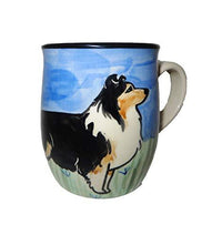 Shetland Sheepdog, Tri-colored, Hand-Painted Ceramic Mug
