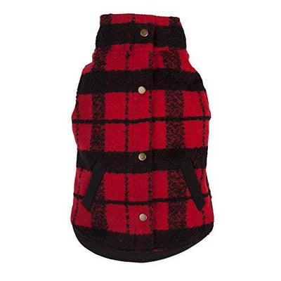 Plaid Bouclé Dog Coat