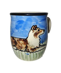 Australian Shepherd, Red Merle, Hand-Painted Ceramic Mug